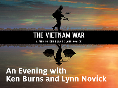 Ken Burns and Lynn Novick in Houston