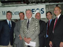Rob Nevin, CEO of Ineos Nitriles; League City Mayor Jerry Shults