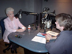 Ann Richards and KUHF's Ed Mayberry