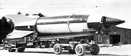 image of German v2 missile