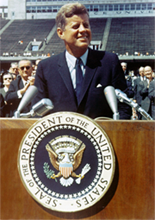 image President John F Kennedy of September 12, 1962 at Rice University