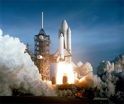 image of Shuttle lift-off sts-1