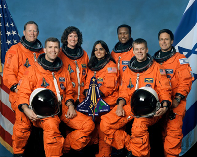 image of 7-member Columbia crew