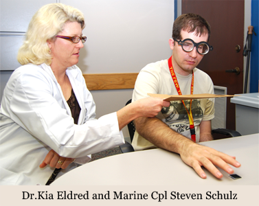 image of Dr.Kia Eldred and Marine Cpl Steven Schulz
