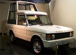 image of Popemobile
