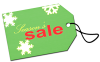 image of holiday sale tag