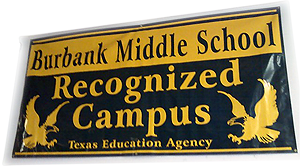image of Burbank Middle School banner