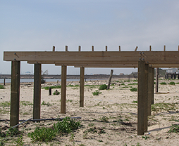 image of wooden foundation