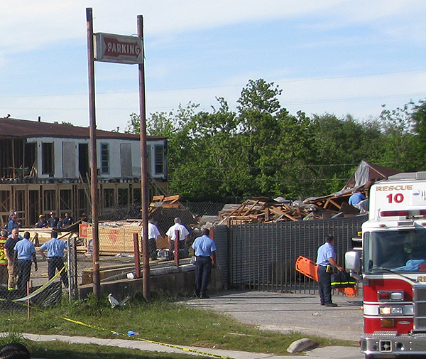 image of building collapse