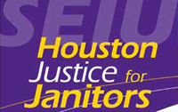 Service Employees International Union logo for Houston Justice for Janitors