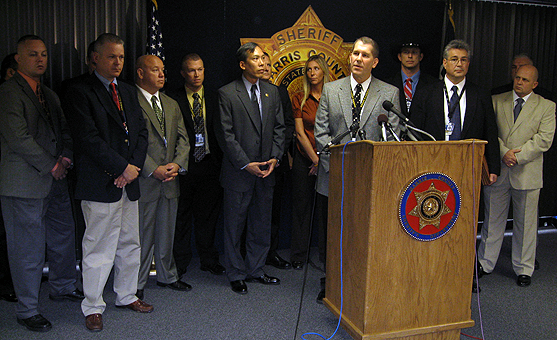 Harris County Sheriff's Department press conference September 25, 2009