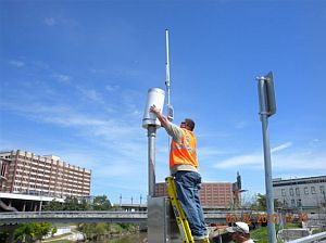 The Harris County Flood Control District maintains an array of sensors around the city