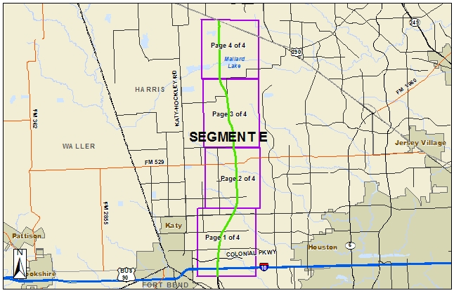 Harris County Toll Road Authority's proposed Segment E of the Grand Parkway
