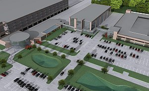 An artist's rendering of the improvements to LBJ Hospital