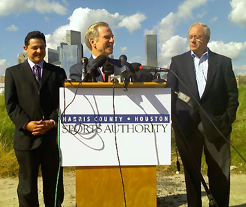 J Kent Friedman, chairman of the board of the Harris County-Houston Sports Authority