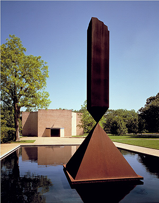Broken Obelisk in front of the Rothko Chapel