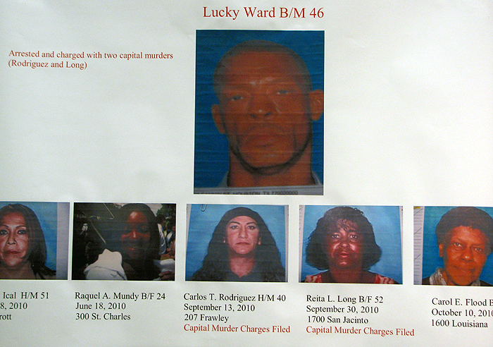 Lucky Ward and victims