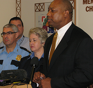 Houston Mayor Annise Parker and HPD Chief Charles McClelland