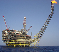 ENI Oil platform Bouri DP4 in