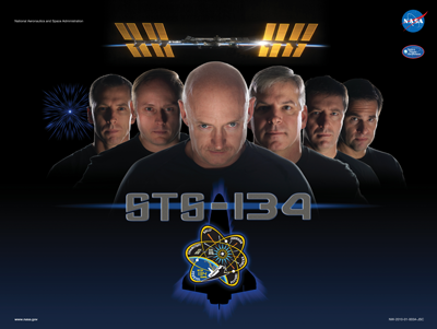 NASA STS-134 Official Mission Poster
