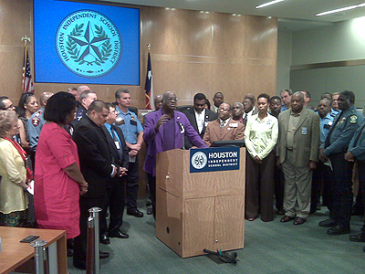 Reverend Robert Jefferson with Ministers Against Crime