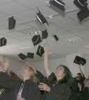 thrown graduation hats