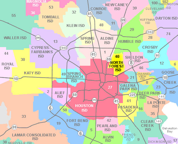 Houston School District Map Awesome Houston School District Map Galleries   Printable Map  Houston School District Map