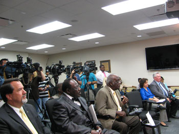 Houston clergy members in attendance