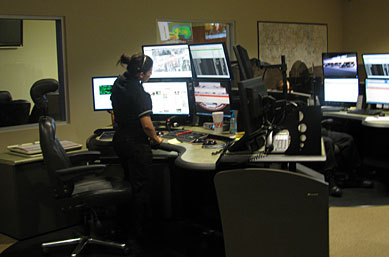 911 Emergency Dispatch Center in north Houston