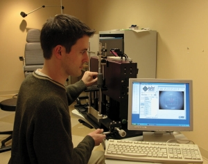 Assistant Professor David Berntsen in the lab