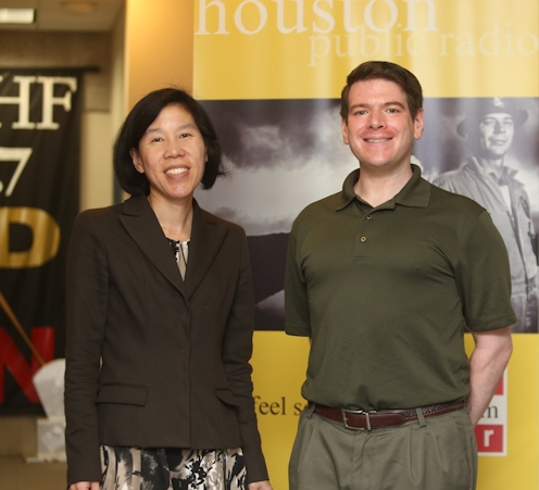 The Baker Institute's Vivian Ho with KUHF's Andrew Schneider