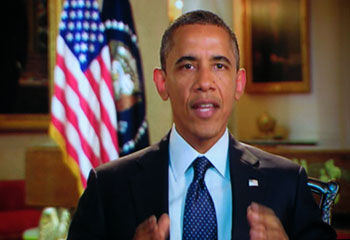 video message from Obama