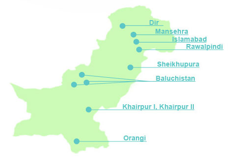 DIL map of locations