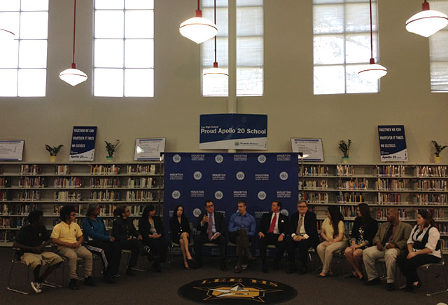 panel discussion at Lee High School