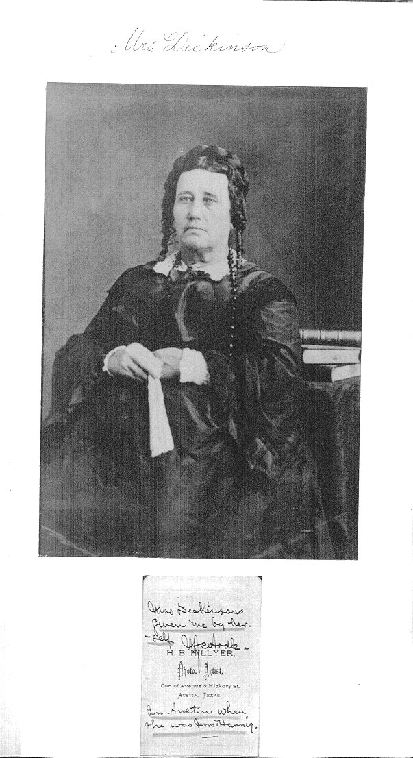 Portrait of Susanna Dickinson