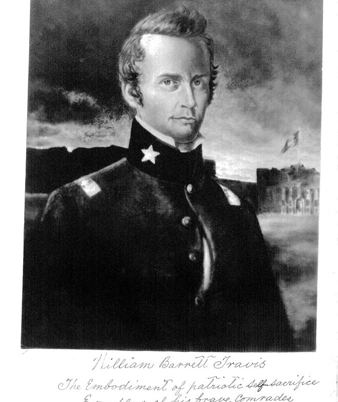 Portrait of William Barret Travis by McArdle, The McArdle Notebooks, Archives and Information Services Division, Texas State Library and Archives Commission.