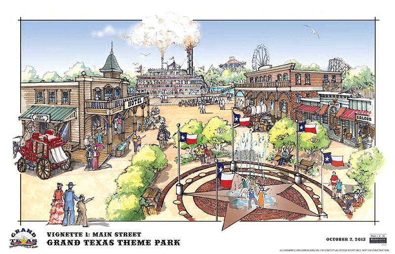 It's been eight years since the AstroWorld amusement park closed. Soon, construction is slated to start on a new theme park 30 miles north of Houston. The new park is going to be quite different from AstroWorld.