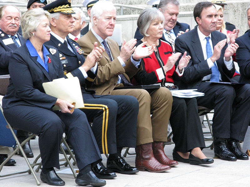 Officials honoring veterans at Houston City