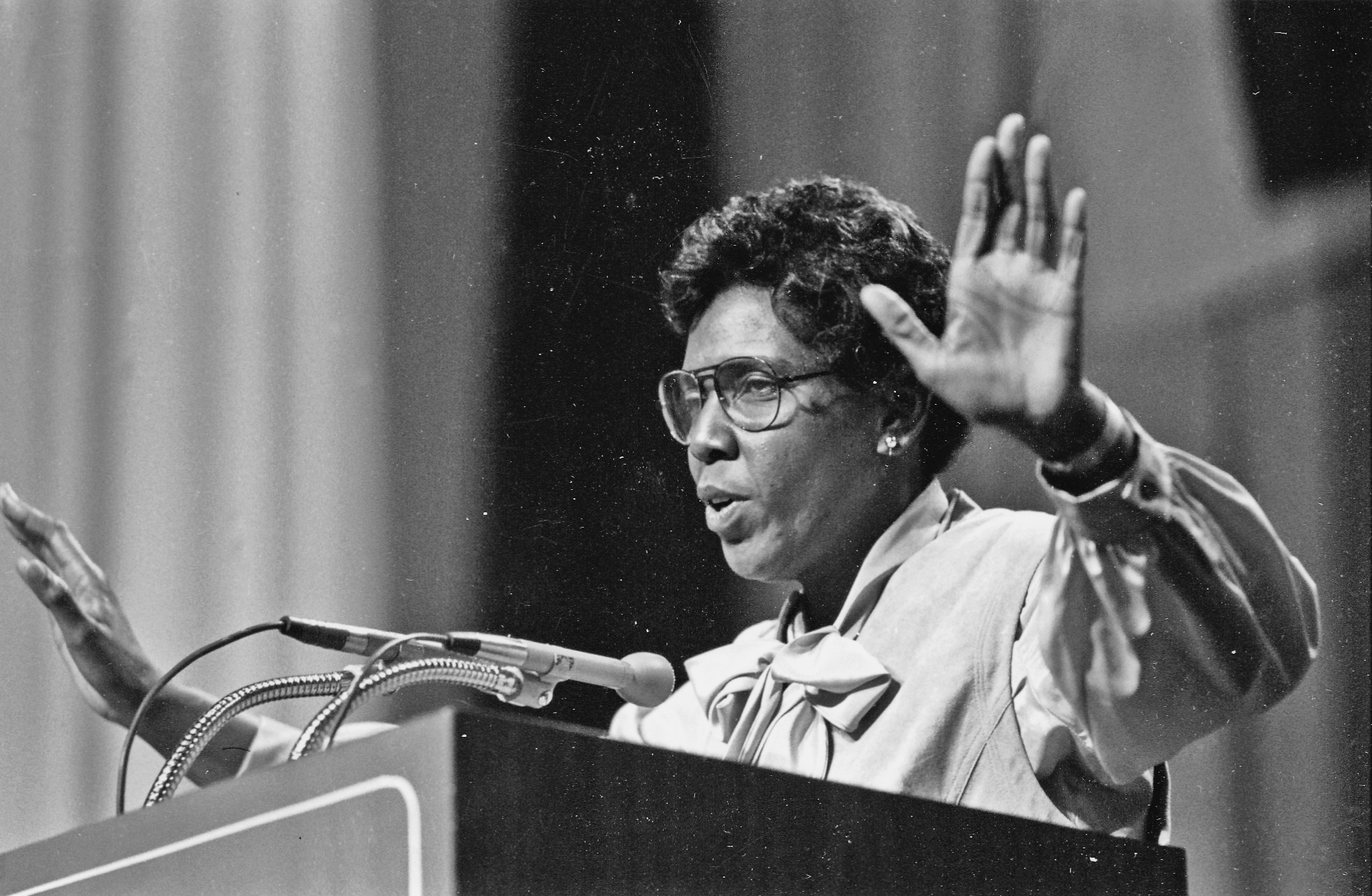 U.S congresswoman Barbara Jordan electrified audiences with her distinct oratory style, a style she admitted was learned during her years on the Texas Southern University debate team under the leadership of Dr. Thomas Freeman.