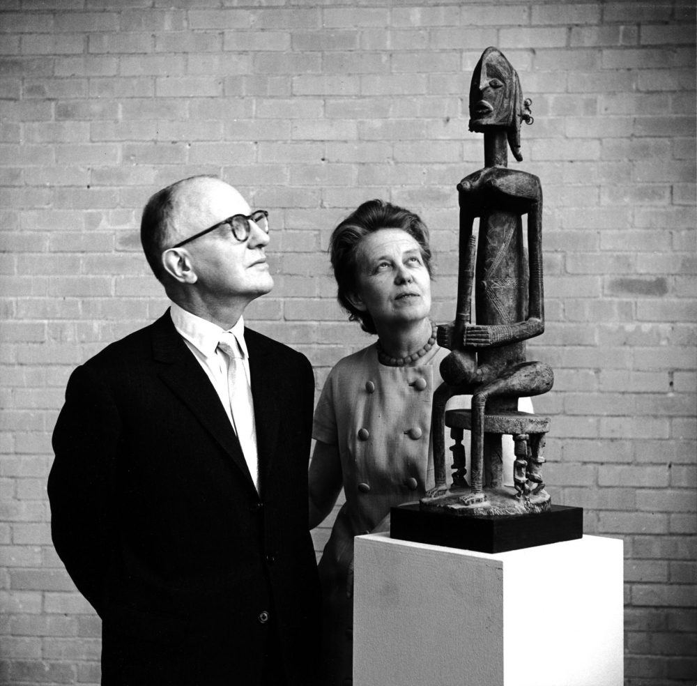 John and Dominique de Menil at the University of St. Thomas, Houston, 1965