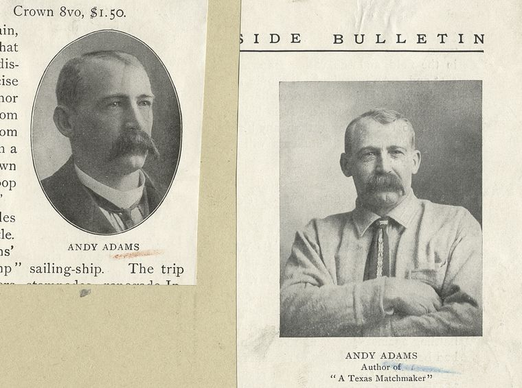 two portraits of Andy Adams