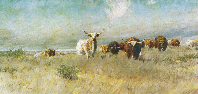 The Approaching Herd painting