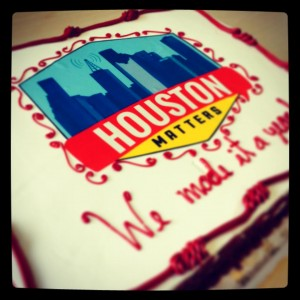 Houston Matters Anniversary Cake