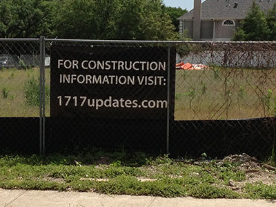 construction info sign