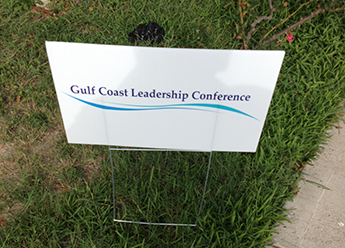 Gulf Coast Leadreship Conference sign