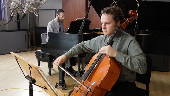 Patrick Moore (cello) and Rodney Waters (piano)Credit: Troy Schulze