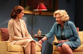 Hallie Foote as Sybil and Betty Buckley at Gertrude in The Old Friends.