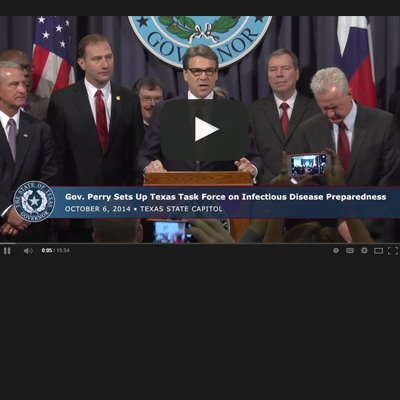 VIDEO: Perry Creates Infectious Disease Task Force – Houston