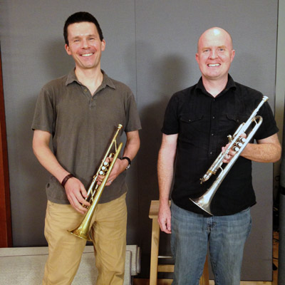 George Chase and Jason Adams of River Oaks Chamber Orchestra.