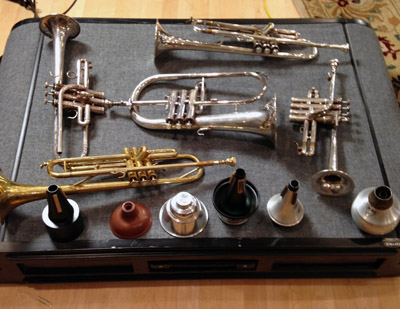 Varieties of trumpet and mutes